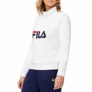 FILA- 1/4 Zip Pullover Logo Sweatshirt- NWT